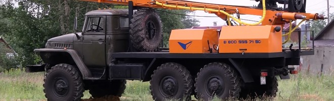 Буровая установка УРБ 2А2 на шасси Урал