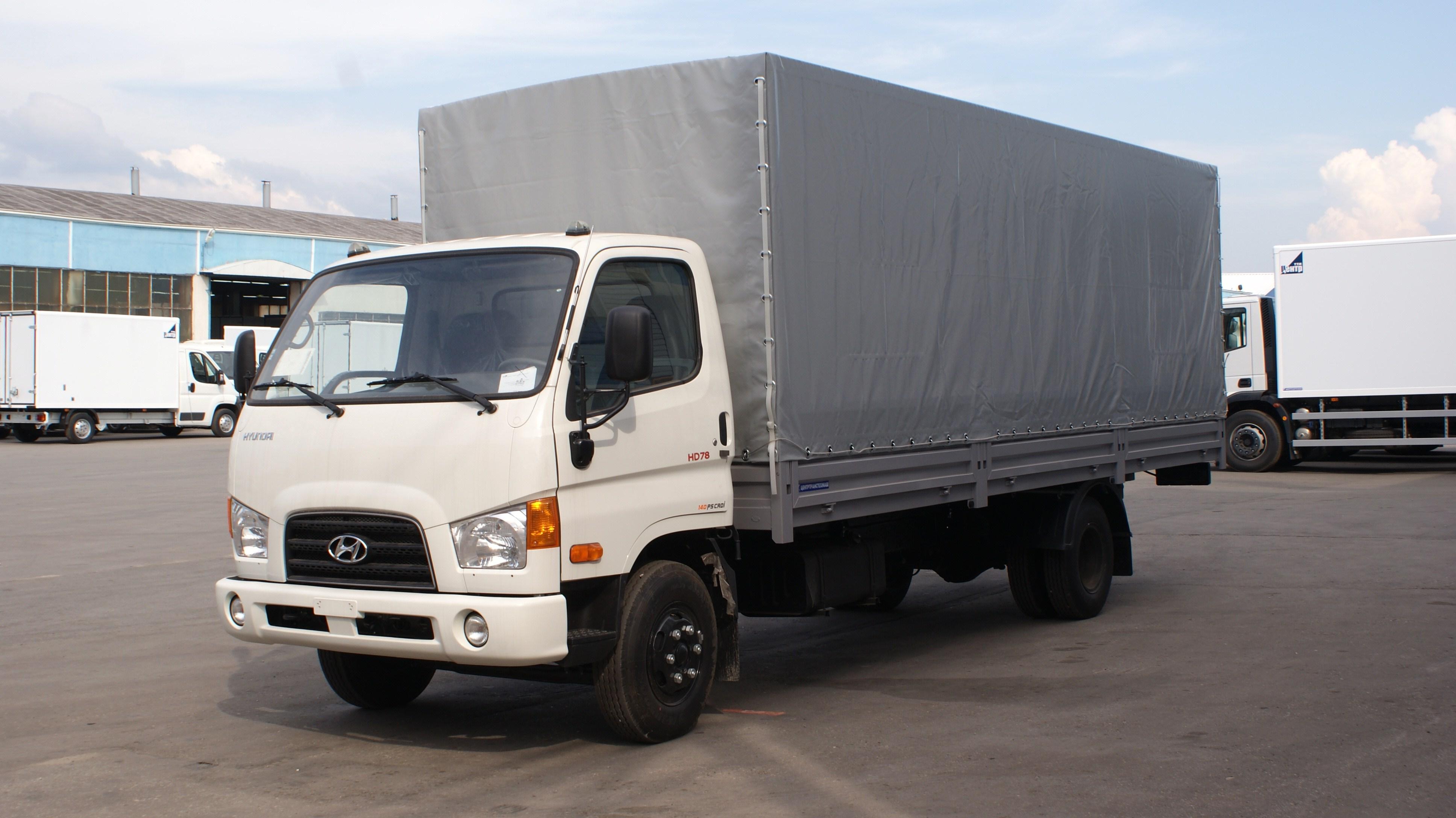Hyundai HD 78 с тентом