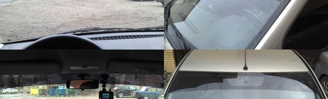Процедура тонирования лобового стекла полосой