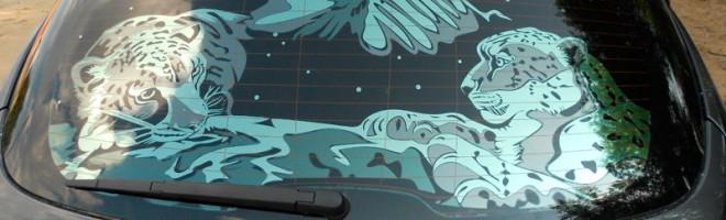 Технология цветной тонировки стекол автомобиля