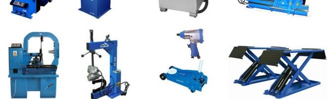 Комплект необходимого оборудования для шиномонтажа